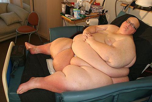 Paul Mason when weighs 445kg. Photo: The Sun